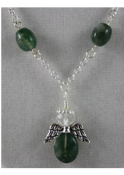 Moss Agate - Angel of Communication with Nature Necklace