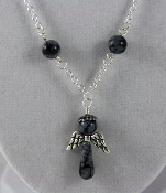 Snowflake Obsidian - Angel of Purity Necklace