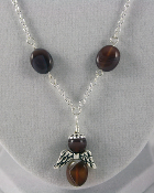 Botswana Agate - Angel of Strength to Carry On Necklace