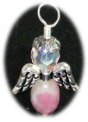 Pink Tourmaline Angel of Comfort and Safety